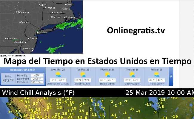 Mapa Del Tiempo En Estados Unidos En Tiempo Real Weather